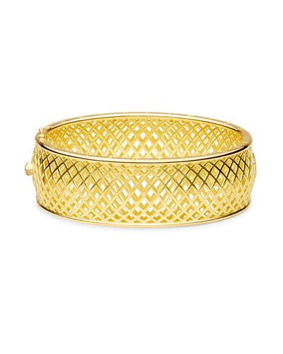 Spiral Mesh Bangle Bracelet
