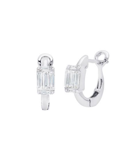 Ascension Diamond Baguette Huggie Earrings