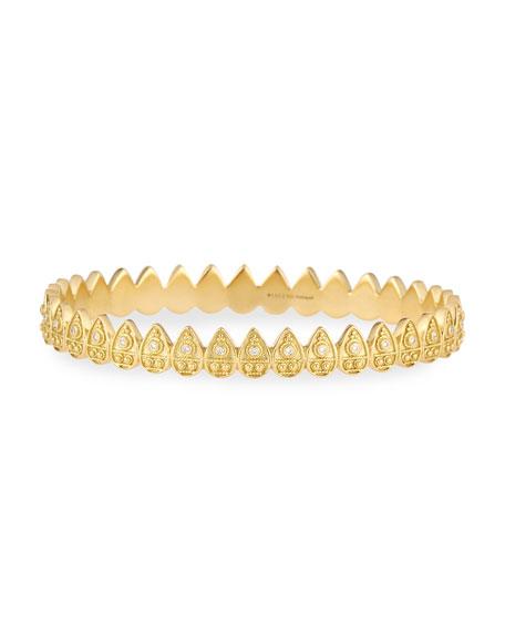Heritage Petal Hinged Bracelet with Diamonds