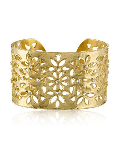 Shevanti Floral Diamond Cuff Bracelet