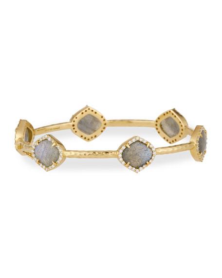 Pallavi Labradorite & Diamond Station Bracelet