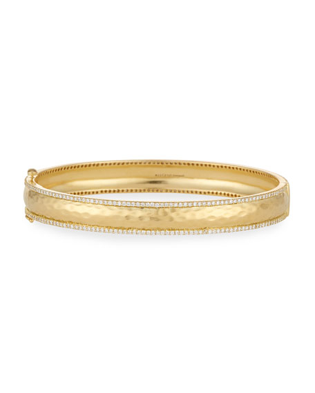 Chadni Hinged Bangle Bracelet with Diamonds