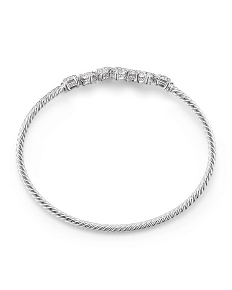 Petite Châtelaine 18K White Gold Bracelet with Diamonds, Size S
