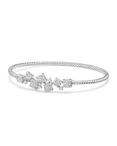 Petite Châtelaine 18K White Gold Bracelet with Diamonds, Size S