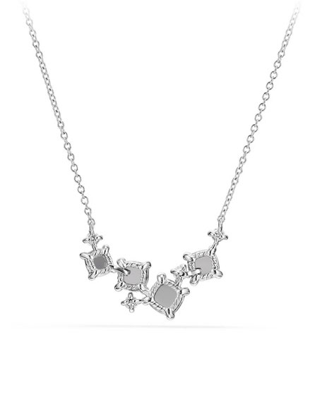 Petite Châtelaine Necklace in 18k White Gold