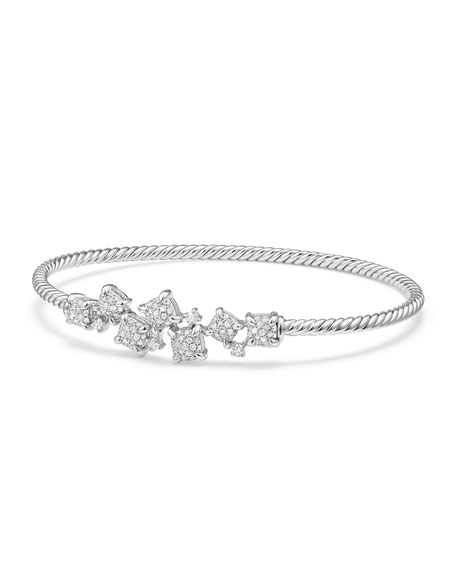 Petite Châtelaine 18K White Gold Bracelet with Diamonds, Size M