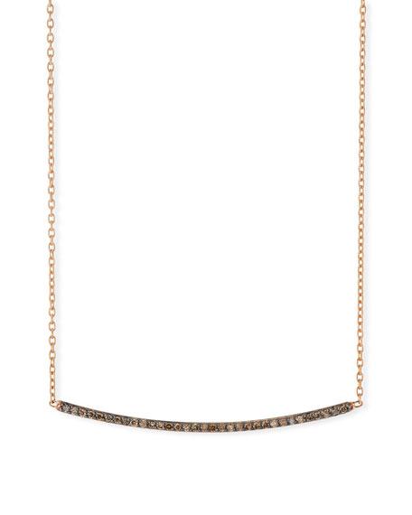 Kismet by Milka Lumiere Champagne Diamond Bar Necklace dw25FwfBPu