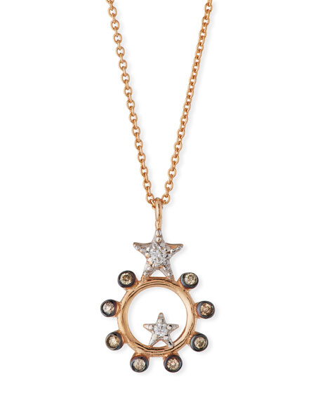 Kismet by Milka Eclectic Star Circle Necklace with