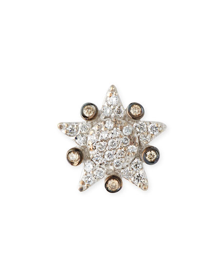 Eclectic Single Star Stud Earring with Diamonds