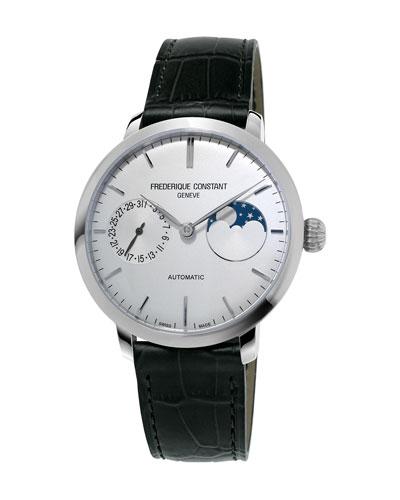 38,8mm Slimline Manufacture Moonphase Watch