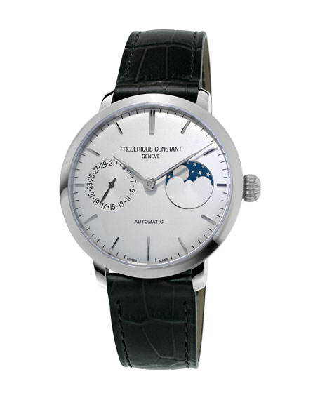 38,8mm Slimline Manufacture Moonphase Watch