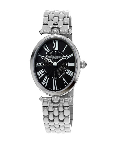 Ladies' Classics Art Deco Stainless Steel Watch, Black