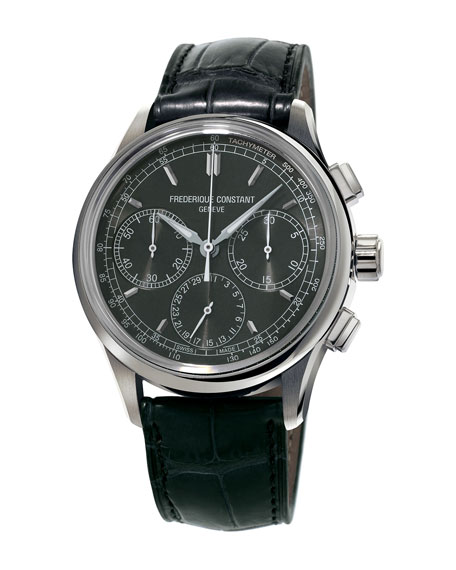 Flyback Manufacture Chronograph Watch, Black
