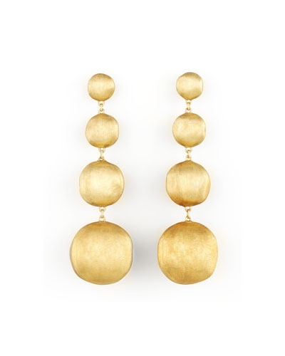 Africa Yellow Gold Four-Drop Earrings