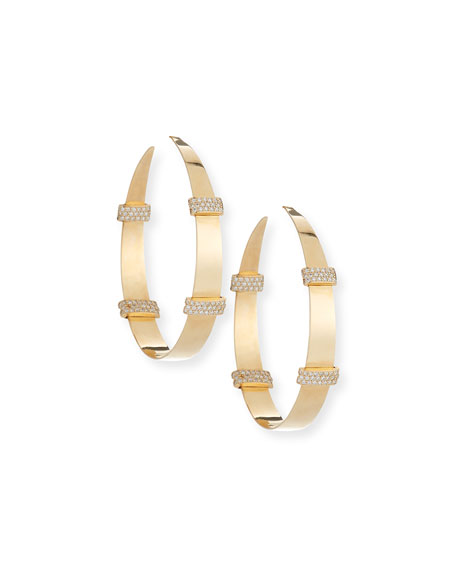 Lana Flawless 14K Wrap Hoop Earrings