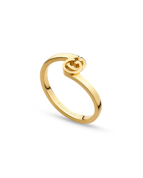 Running G Stacking Ring in 18K Yellow Gold, Size 6.25