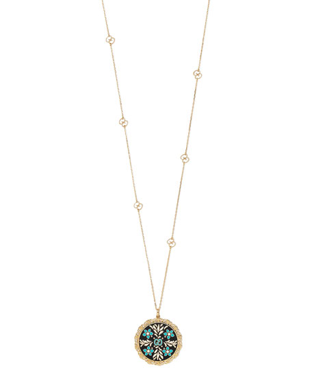 Icon Blooms Pendant Necklace in 18K Gold, 32""
