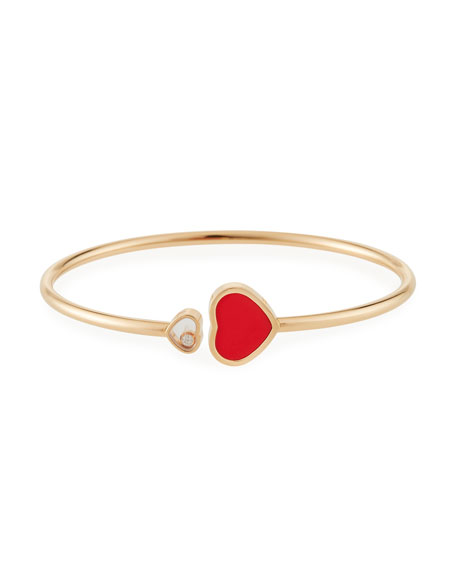 Chopard Happy Hearts Carnelian 1-Diamond Bracelet