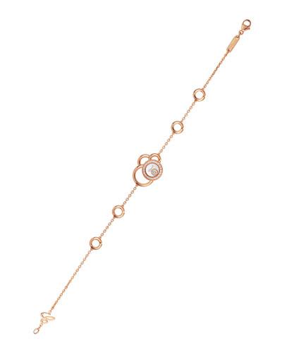 Happy Dreams Circle Diamond Station Bracelet in 18K Rose Gold