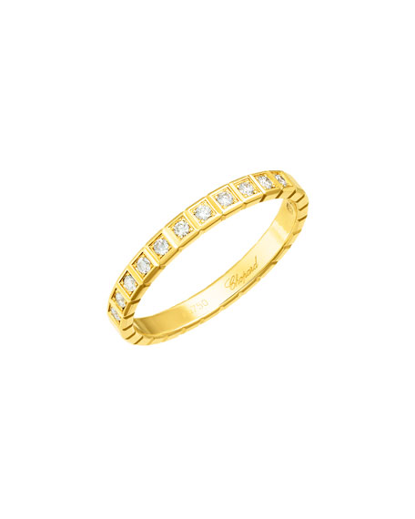 Ice Cube Mini Diamond Ring in 18K Yellow Gold, Size 54