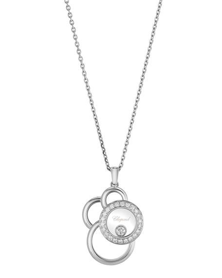 Happy Dreams Semi Pavé Diamond Pendant Necklace