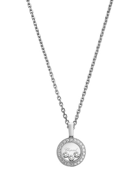 Chopard happy diamonds round pendant necklace in 18k white gold happy diamonds round pendant necklace in 18k white gold aloadofball Gallery