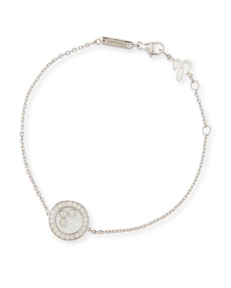 Chopard 18k White Gold Happy Diamonds Bracelet