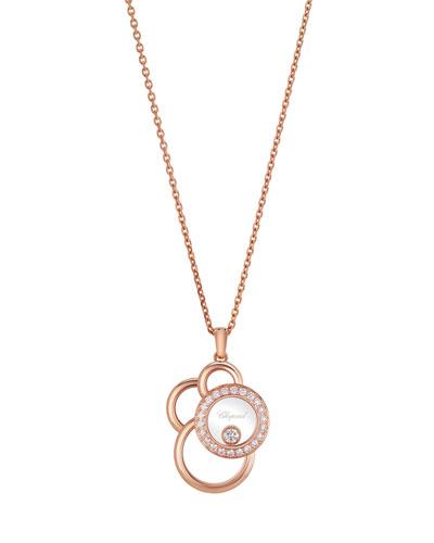 Happy Dreams Circle Diamond Pendant Necklace in 18K Rose Gold