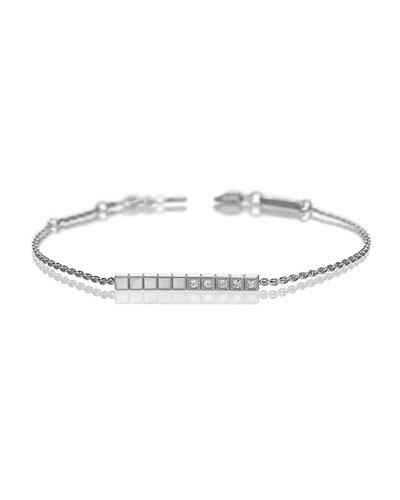 Ice Cube Diamond Bracelet in 18K White Gold