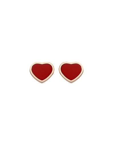 Happy Hearts Carnelian Stud Earrings