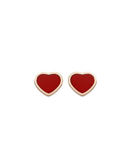 Happy Hearts Carnelian Stud Earrings