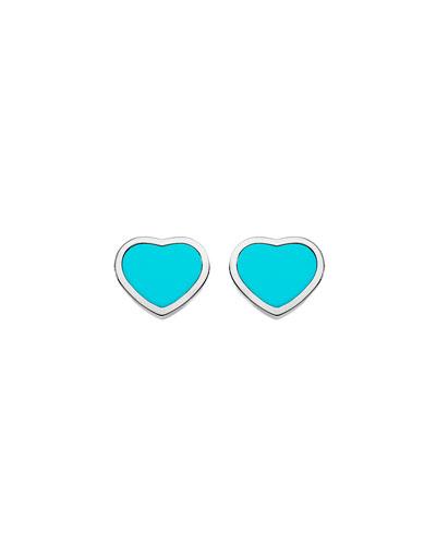 Happy Hearts Turquoise Stud Earrings