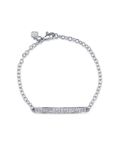 Pavé Diamond ID Bracelet in 14K White Gold