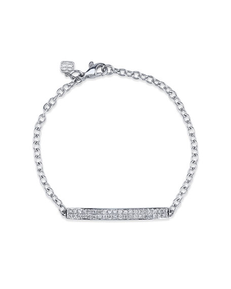 Pavé Diamond ID Bracelet in 14K White Gold
