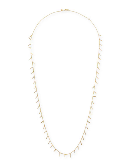 Long Diamond Fringe Necklace, 30""