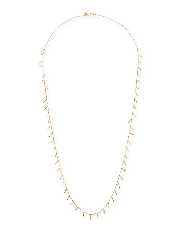 Memoire Fancy Brilliant-Cut Diamond Station Necklace Utu9zs7O