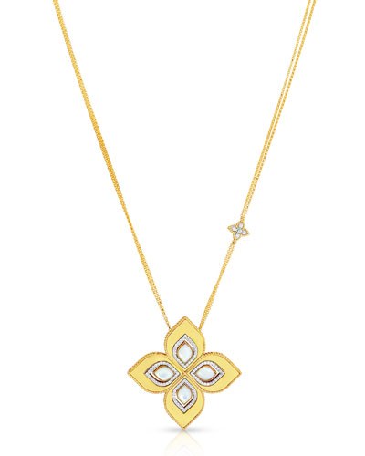 Venetian Princess 18k Gold Mother-of-Pearl Cutout Necklace