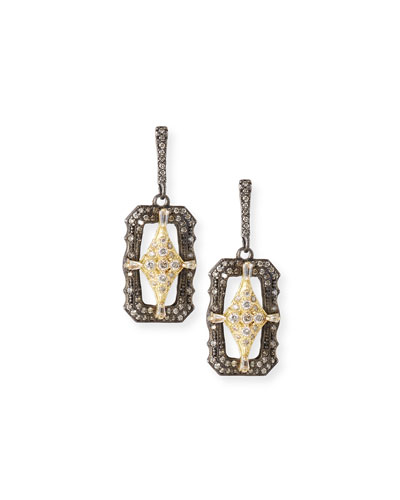 Old World Crivelli Shield Drop Earrings