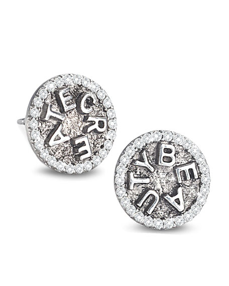 Coomi Sagrada Familia Create Beauty Stud Earrings with Diamonds IM81PtIVxd