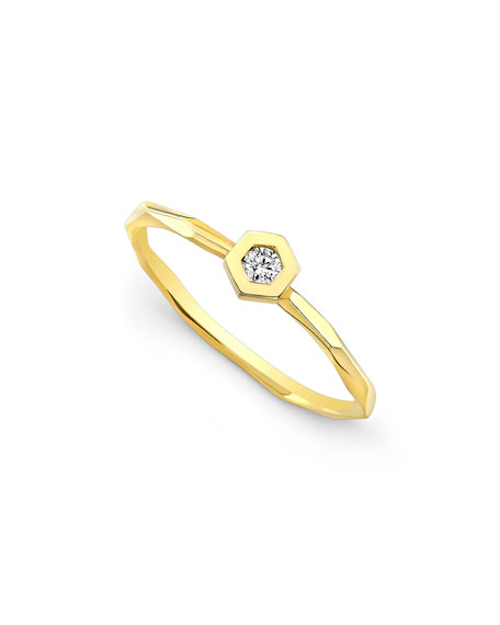Love Bolt Ring with Diamonds, Size 7