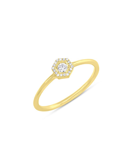 Ron Hami Pavé Love Bolt Ring with Diamonds, Size 7