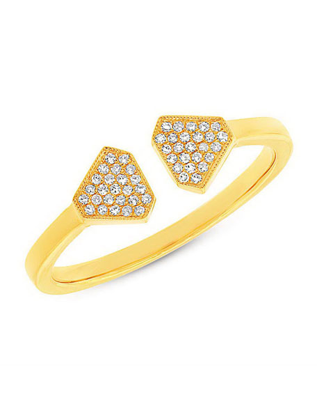Athena Open Ring with Diamonds, Size 7