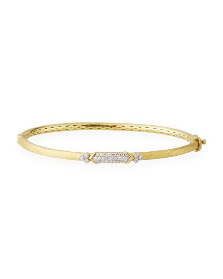 18k Gold Moroccan Marrakech Simple Pavé Bangle