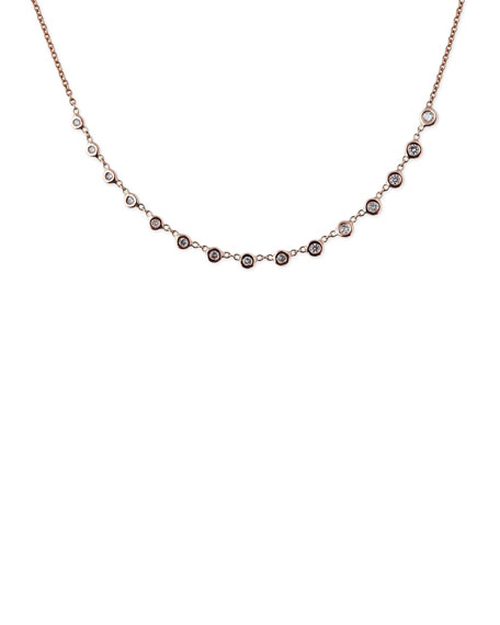 Jacquie Aiche Emily Graduated Diamond Necklace in 14K