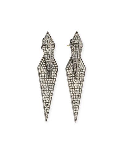 Double Diamond Dagger Earrings