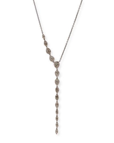 Diamond Teardrop Lariat Necklace