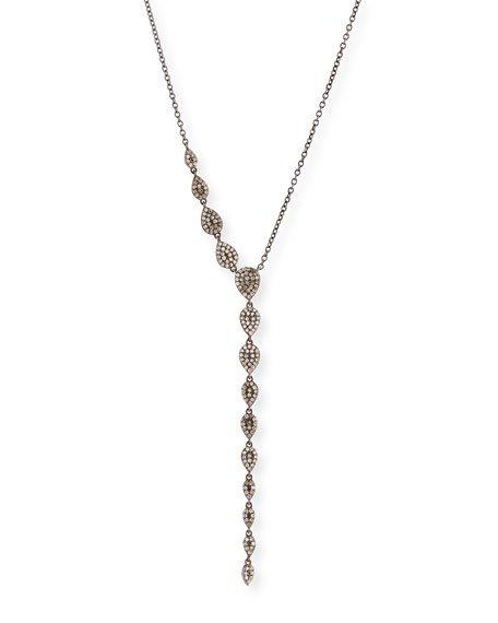 Diamond Teardrop Lariat Necklace