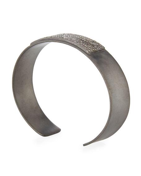 Bar Cuff Bracelet with Pavé Diamonds