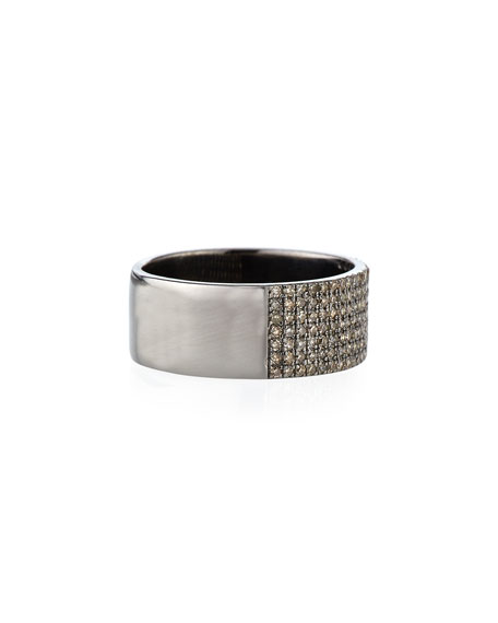 Pave Diamond Line Ring, Size 7