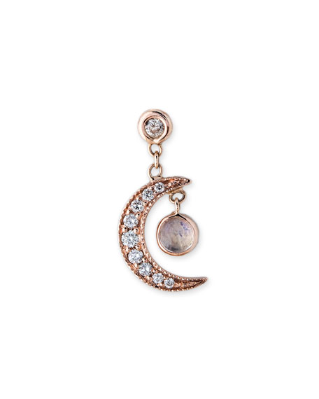 Jacquie Aiche Single Diamond Crescent Stud Earring